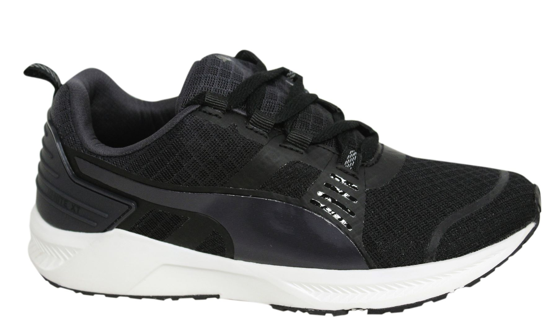 Puma Ignite XT v2 Lace Up Black Textile Womens Trainers 188985 03 ... 226075c13c