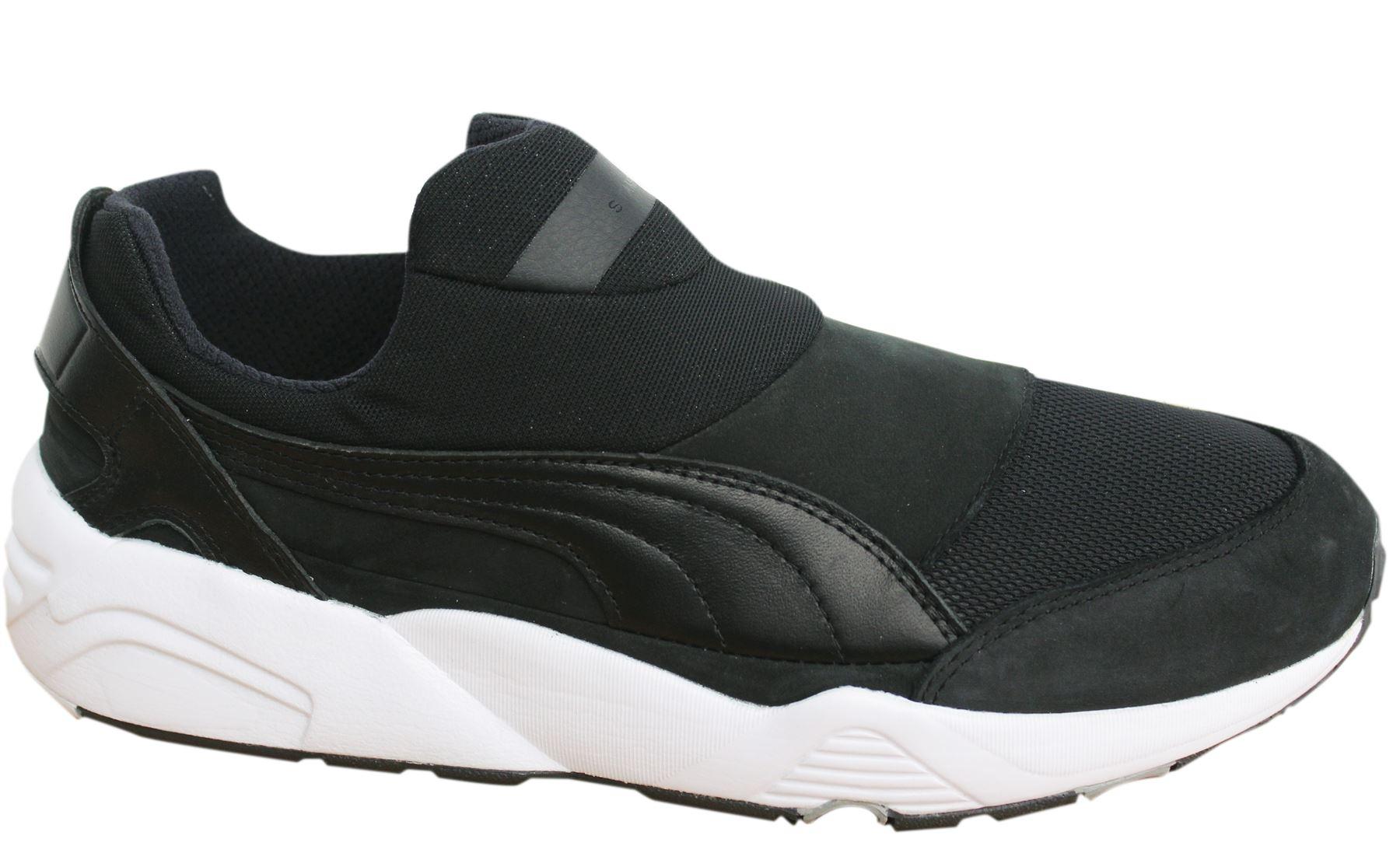 Detalles acerca de Puma Trinomic Calcetín Stampd casi como nuevo x Para hombre Negro Zapatillas resbalón en el zapato 361429 02 D6 mostrar título