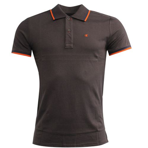 92a778029c59 Details about Champion Athletic Apparel Brown Cotton Mens Button Up Polo  Shirt 208206 1706 M11