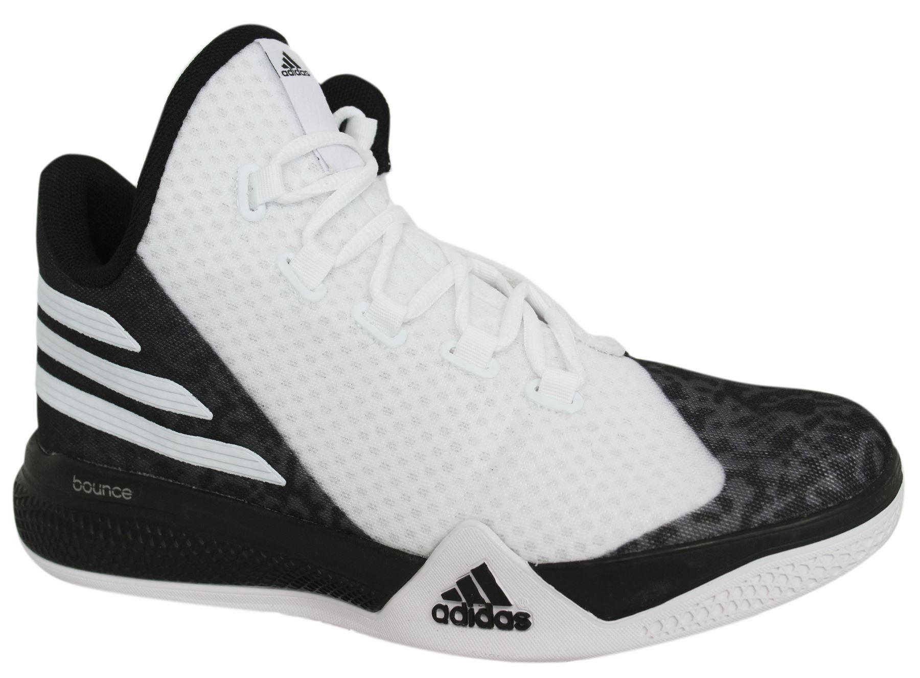 96b3acc08726 Details about Adidas Light Em Up 2 Lace Up White Black Mens Basketball Shoes  AQ8466 M14