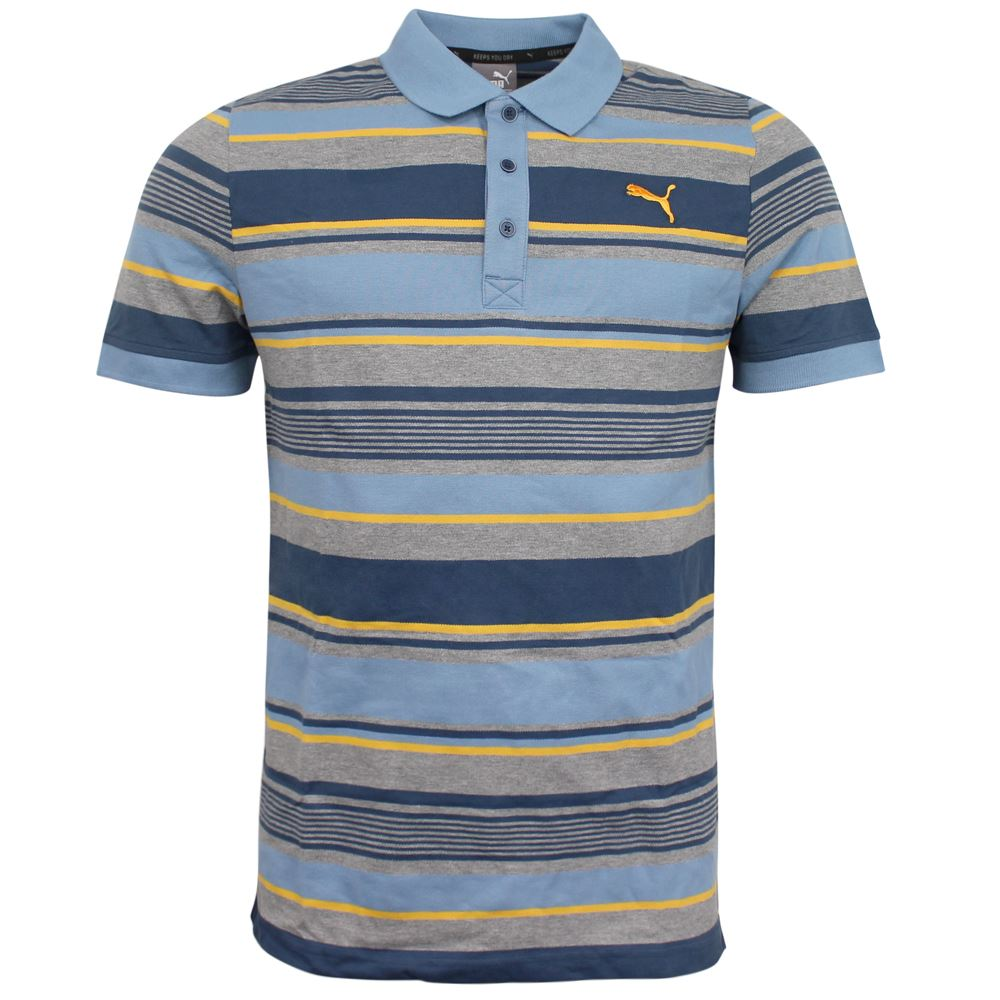 da69d0983a74e Puma FUN Dry Stripe Pique Mens Regular Fit DryCell Polo Shirt 836520 12 UA30