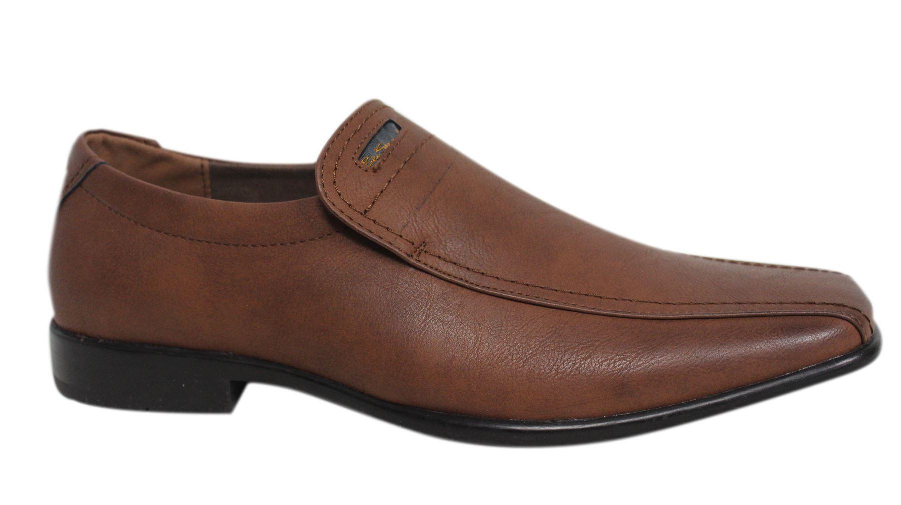 Ben Sherman Duram Slip On Dark Tan Synthetic Mens Loafers Shoes BEN3158 076 U84