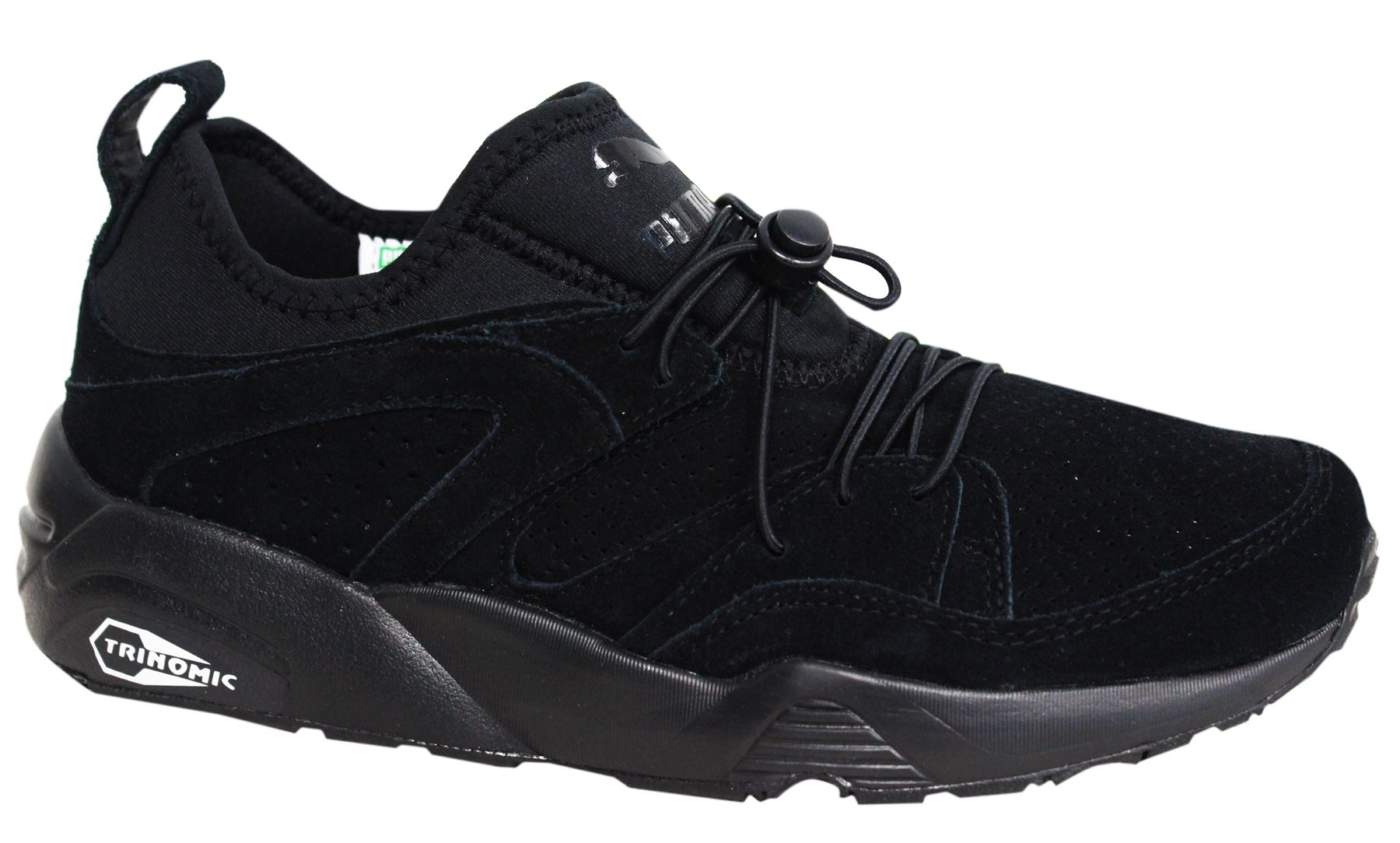 63cb84cf65d0 Puma Trinomic Blaze of Glory Soft Mens Black Trainers Shoes 360101 06 M15