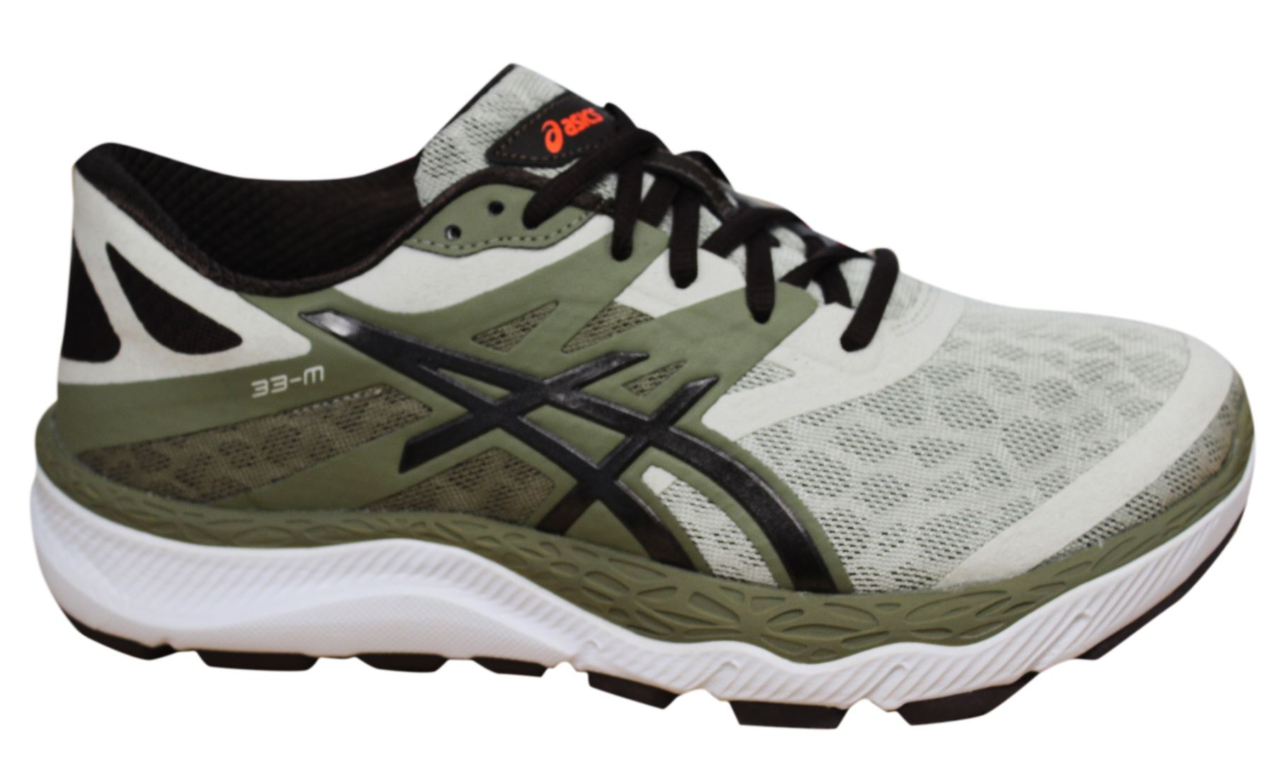 22f26ce15b24c Details about Asics 33-M Khaki Coffee Lace Up Synthetic Leather Mens  Trainers T538N 0784 D44