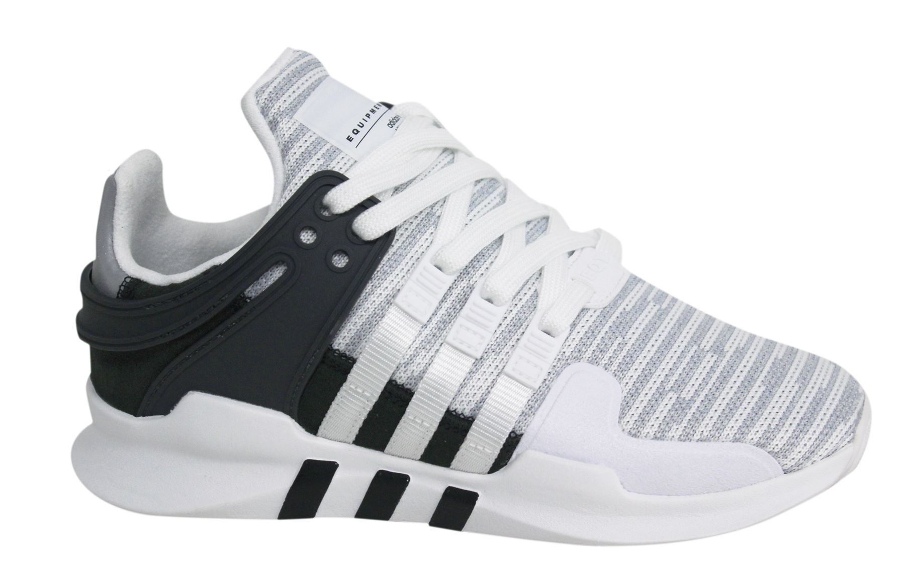 052dff9b72f1 ... clearance adidas eqt support adv lace up white black textile mens  trainers bb1296 d8 755e4 ea8c3