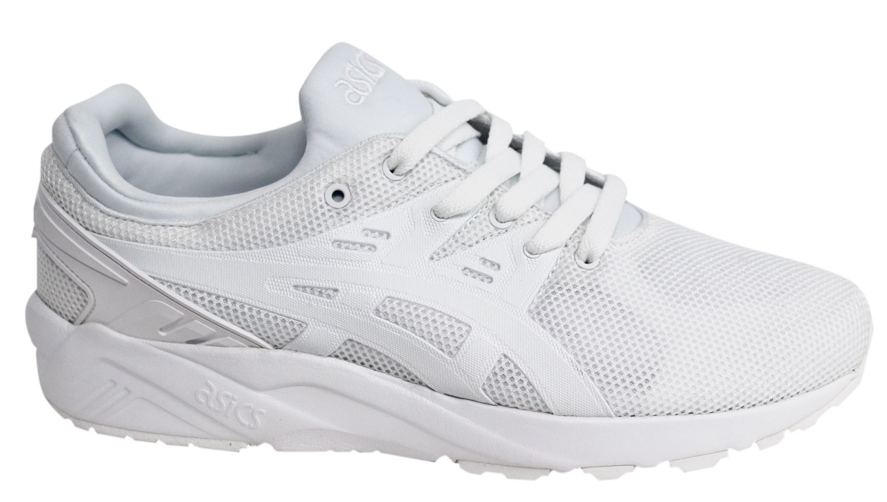 Details zu Asics Gel Kayano Evo White Textile Lace Up Running Mens Trainers HN6A0 0101 B99B