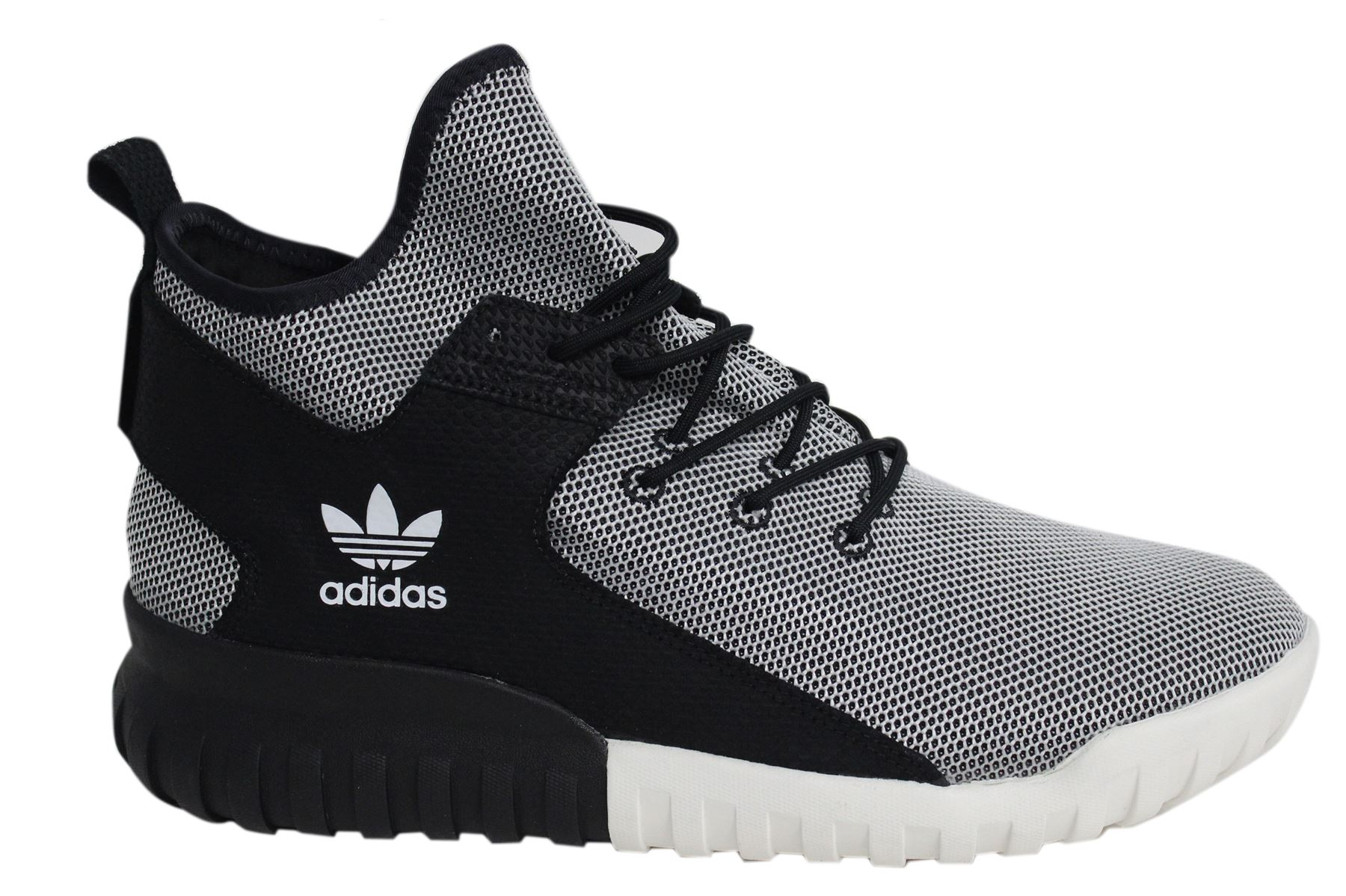 Adidas Tubular X Lace Up Black White Mens Textile Hi Trainers BA7782 D49 | eBay