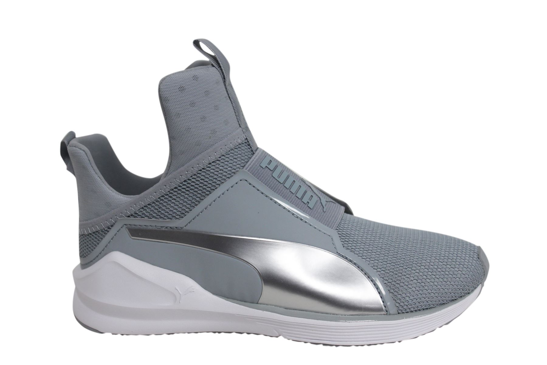 huge selection of 00fd9 2a1b0 Details about Puma Fierce Core Womens Slip On Grey Mesh Dance Trainers  188977 03 M13
