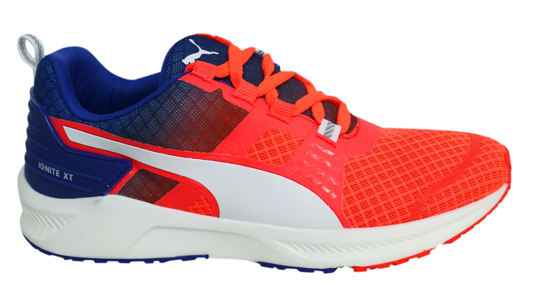 Womens Puma Ignite V2 Lace Up Royal Blue Lace Up Ladies Running Trainers