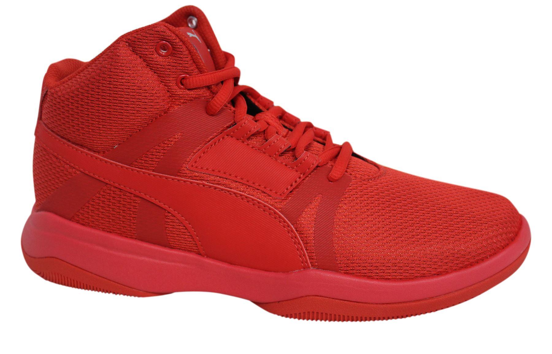 6d980ef78 Puma Evo rimbalzo Street stringate rosso tessile Mens Mid scarpe da  ginnastica alte 361171 07 M14