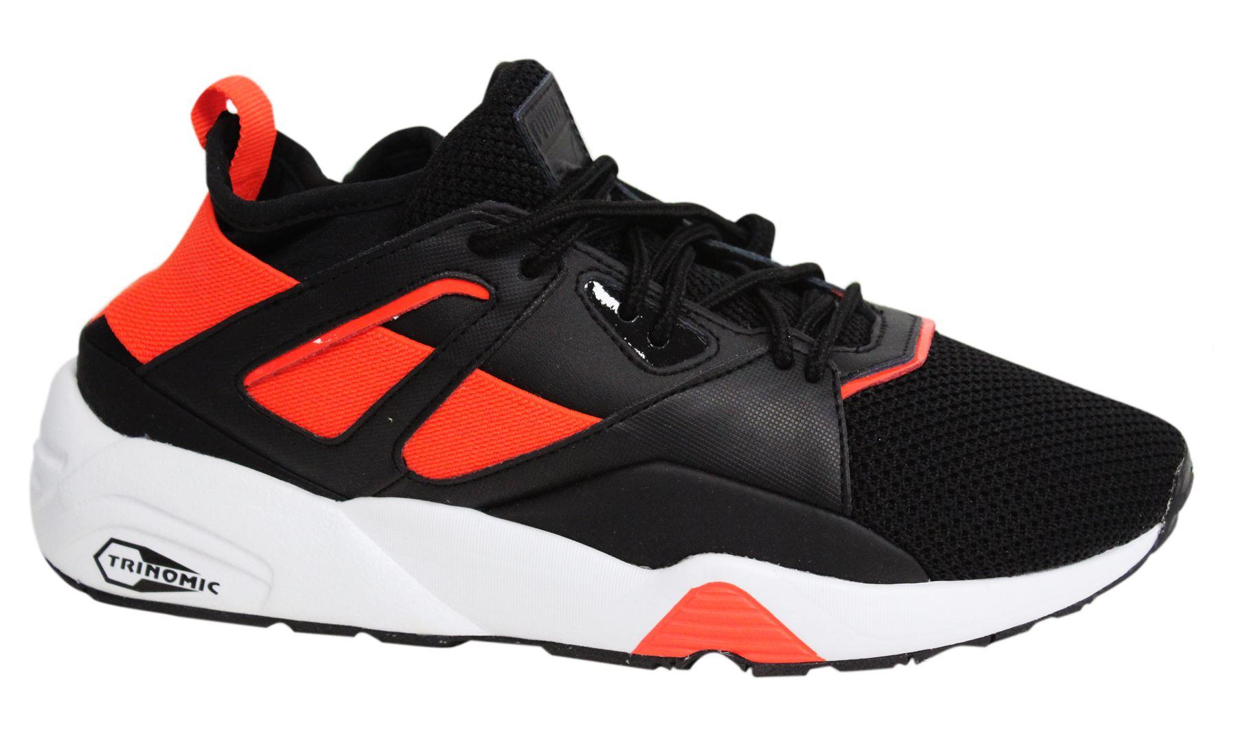 online store cb91b 2c35d Details about Puma Blaze of Glory Sock Tech Lace Up Black Orange Mens  Trainers 362037 02 M8