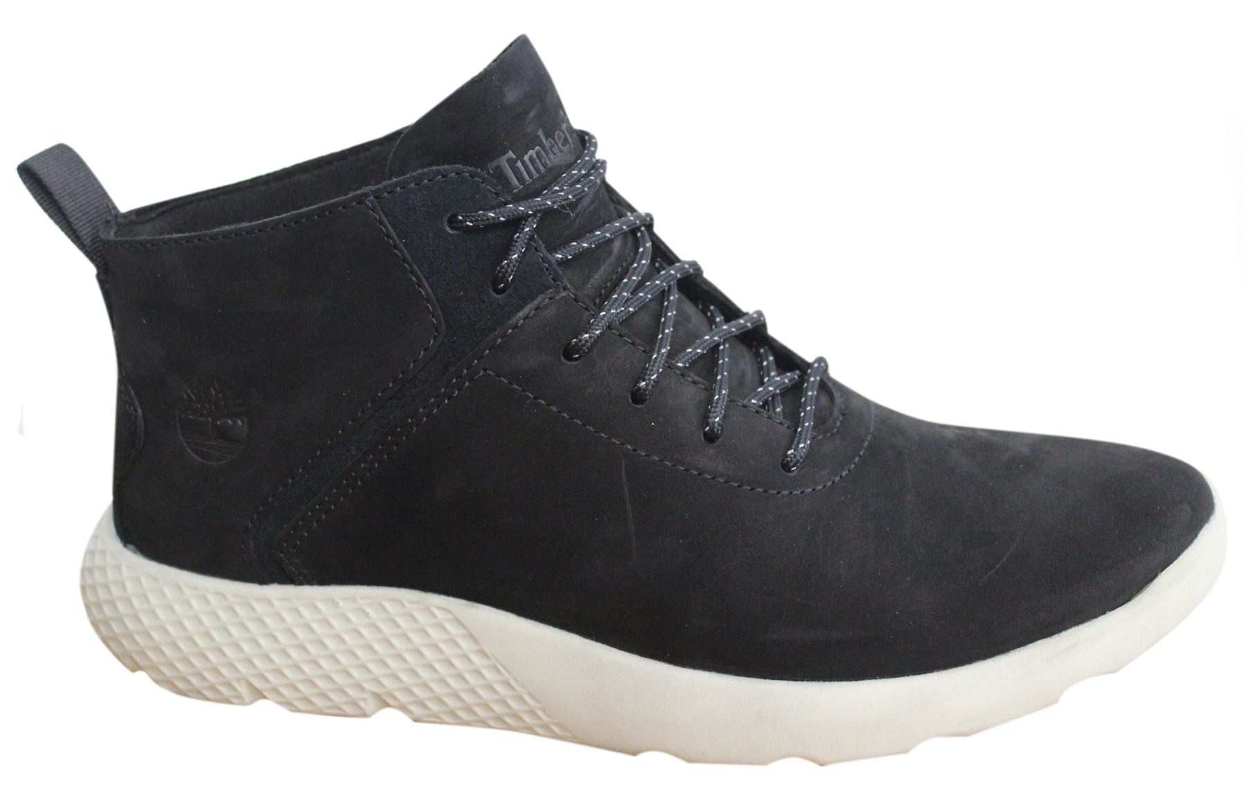 grote verkoop officiële winkel rijgen in Details about Timberland Flyroam Super Ox Lace Up Black Leather Suede  Chukka Shoes A1QA3 B34C