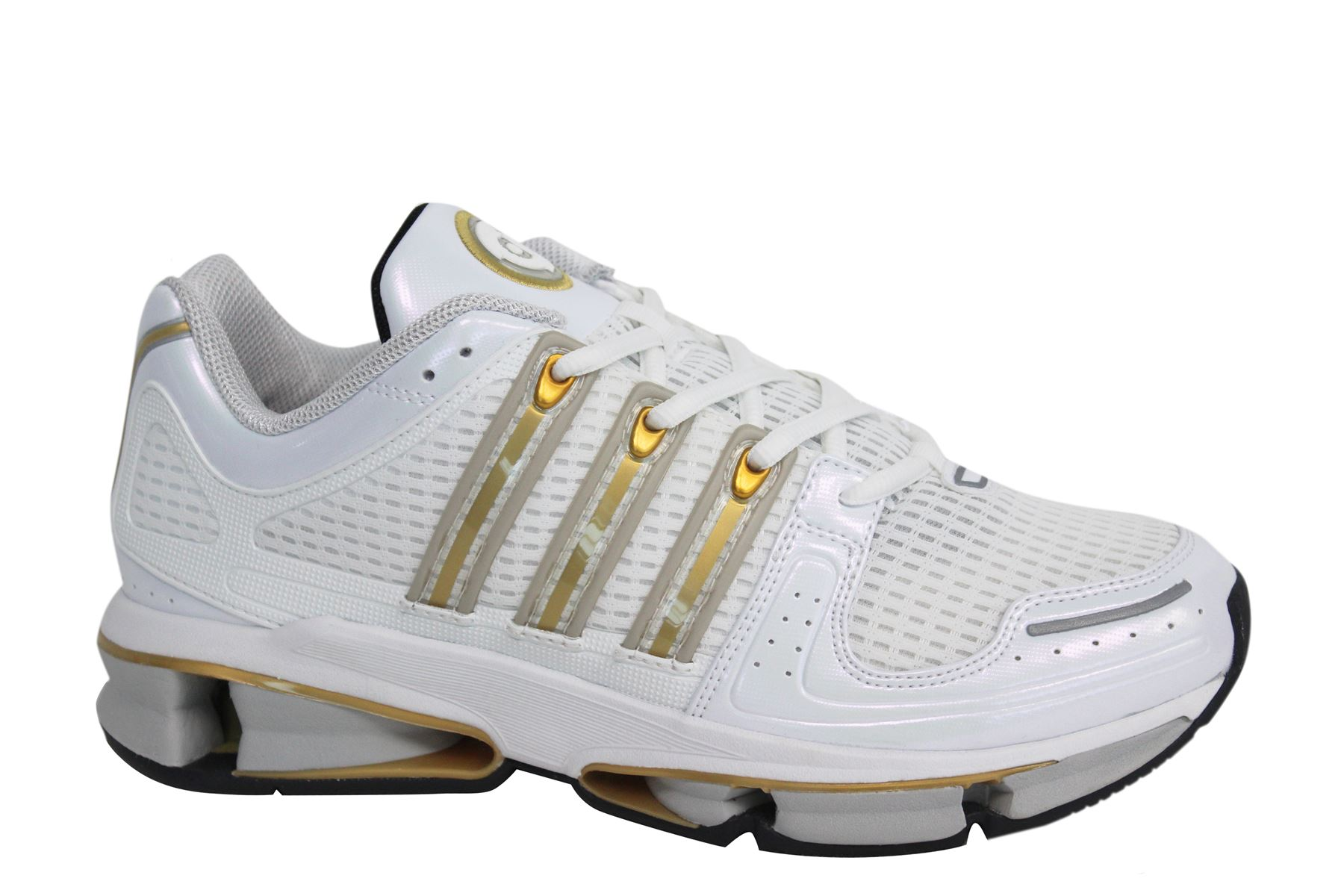new style a2983 a9dc2 Adidas A3 Twinstrike Lace Up White Gold Synthetic Mens Trainers