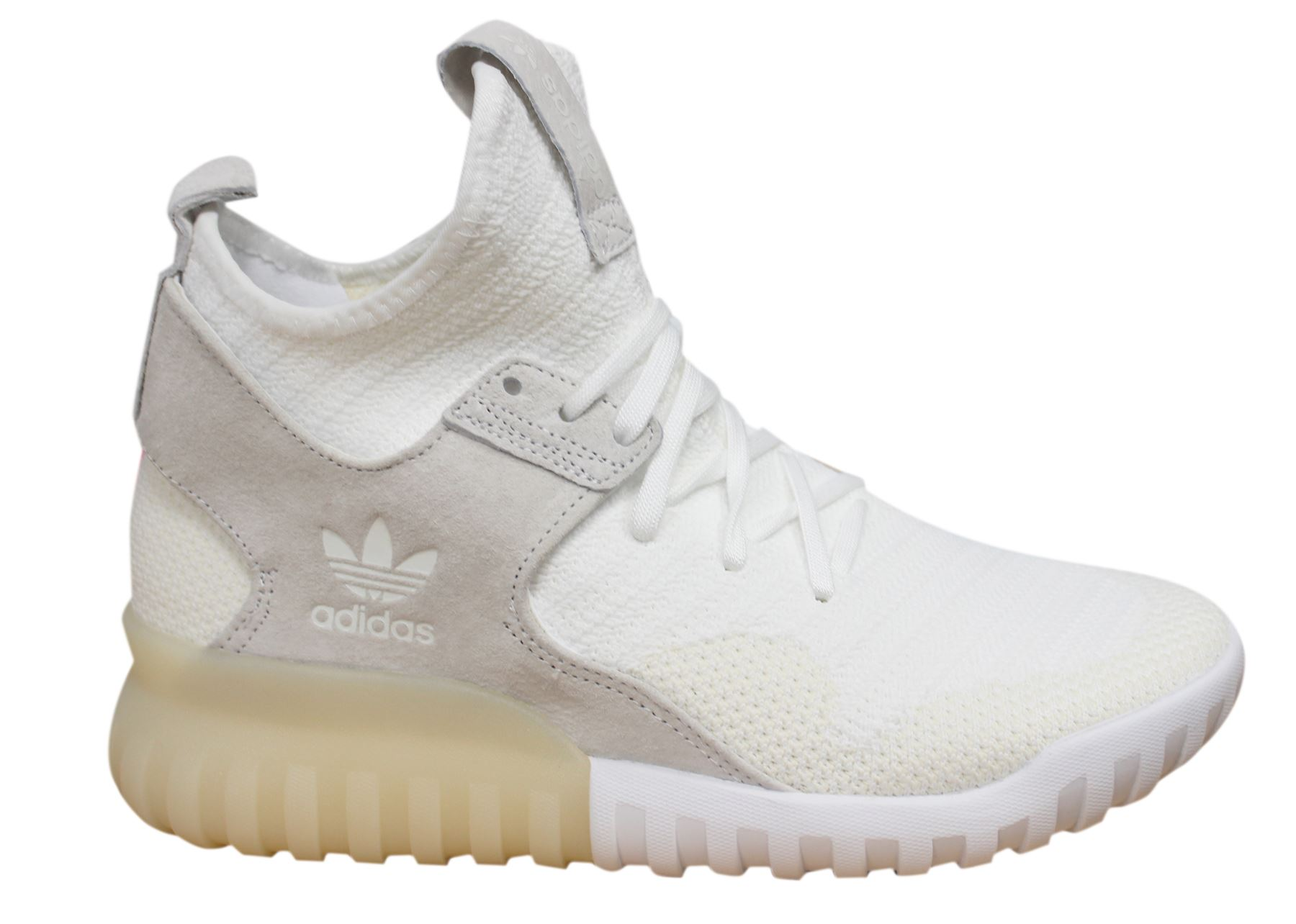 Details about Adidas Originals Tubular X PK Lace Up White Mens Leather Trainers S80130 U7