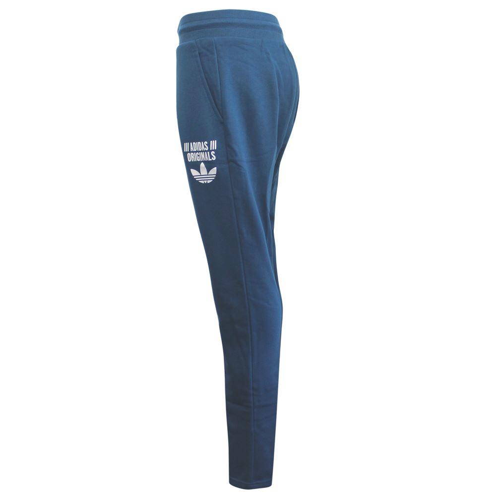 Détails sur Adidas Originaux Bas Entrejambe Bleu Coton Polyester Femme Piste Pantalon AY6646