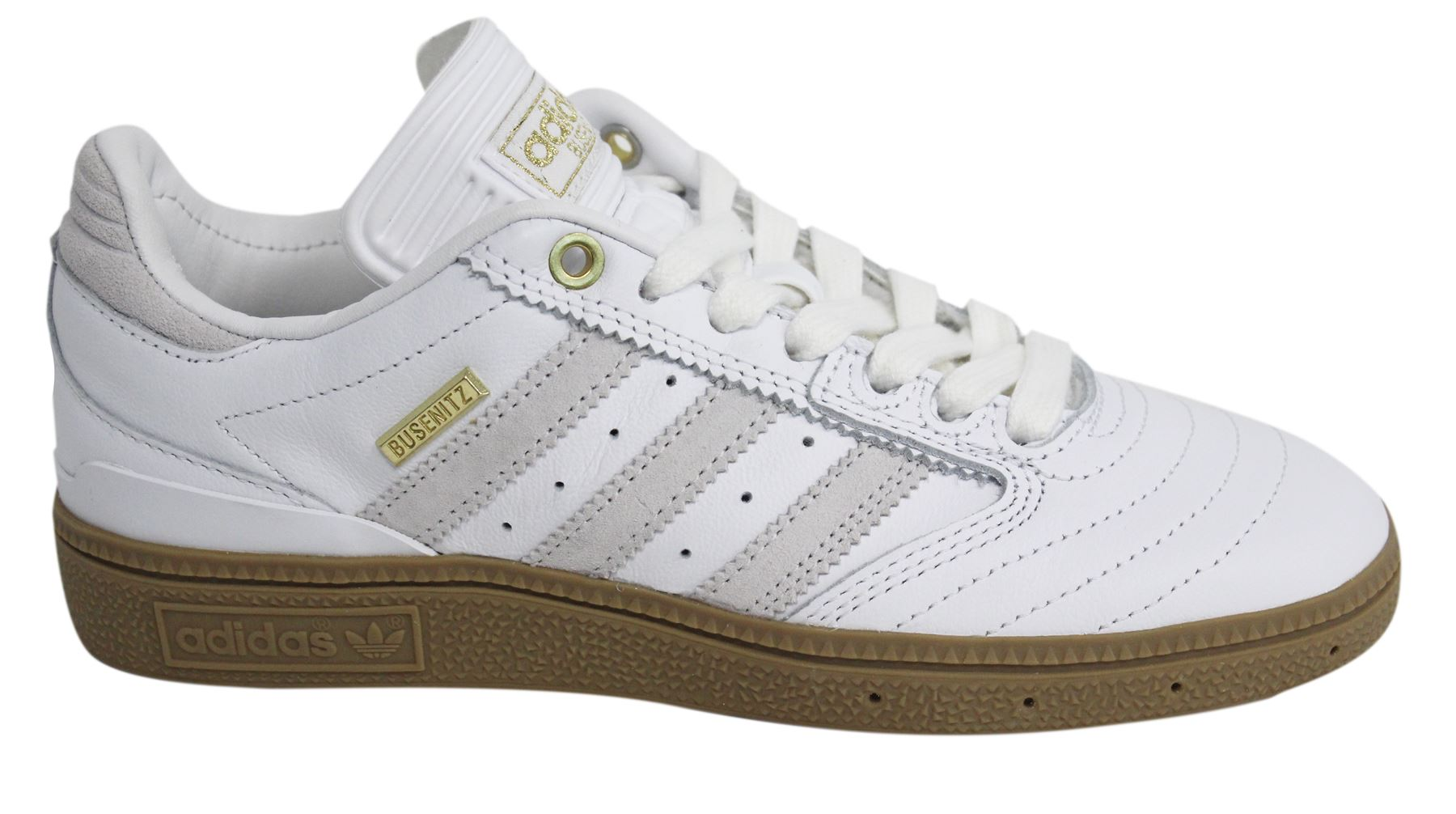 Details about Adidas Busenitz 10 Yr Anniversary Lace Up White Leather Skateboarding Trainers