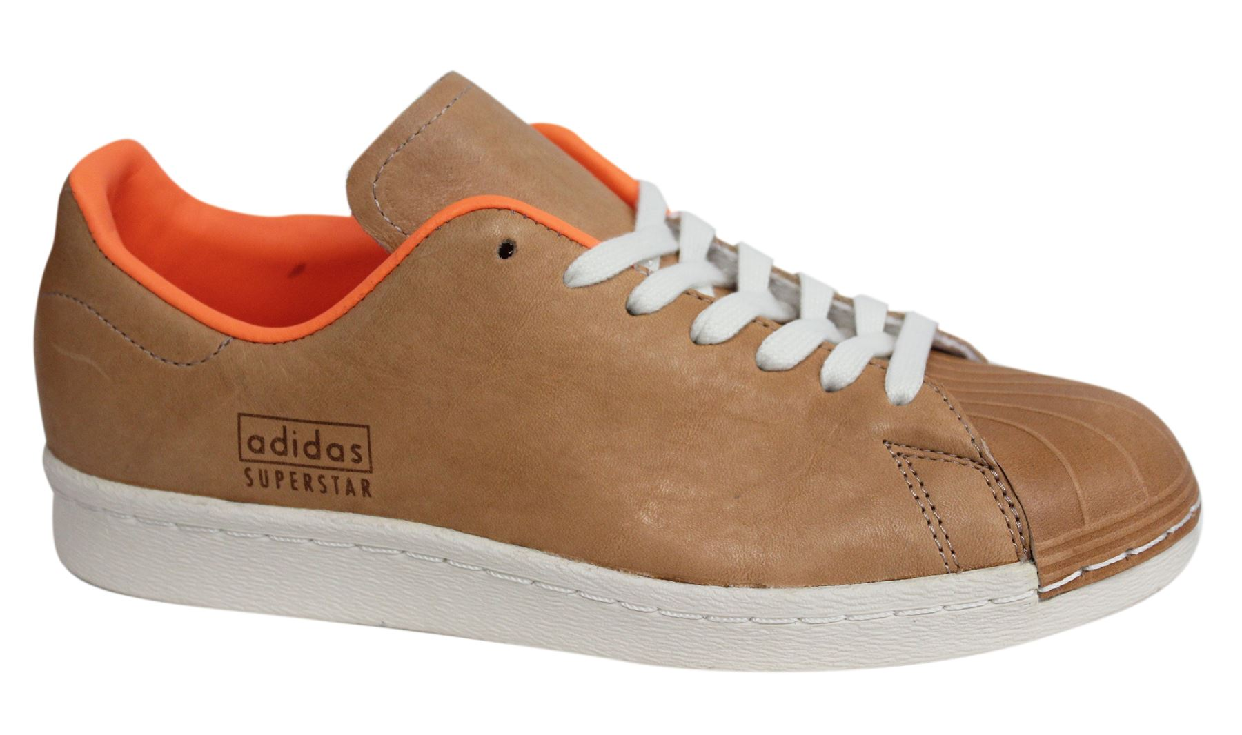 08053c1fdad1 Adidas Originals Superstar 80s Light Brown Leather Mens Trainers BA7767 U20