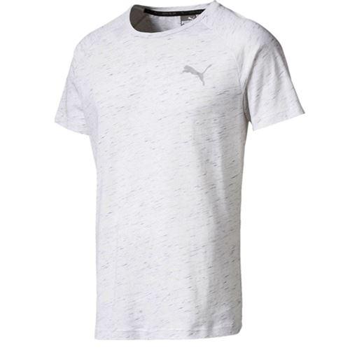 Puma EvoStripe Spaceknit DryCell Mens Cotton White T Shirt