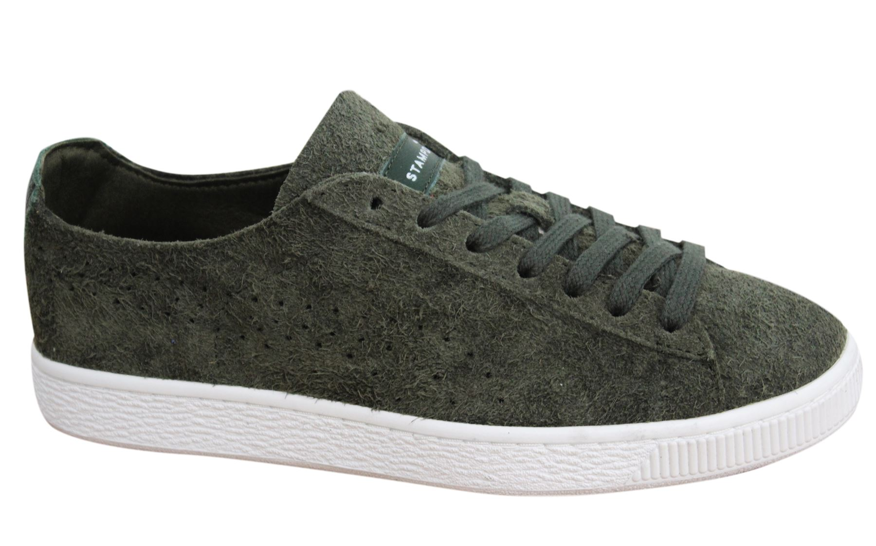 074d6b52413 Puma States x Stampd Lace Up Forest Night Mens Leather Trainers 361491 01  D11