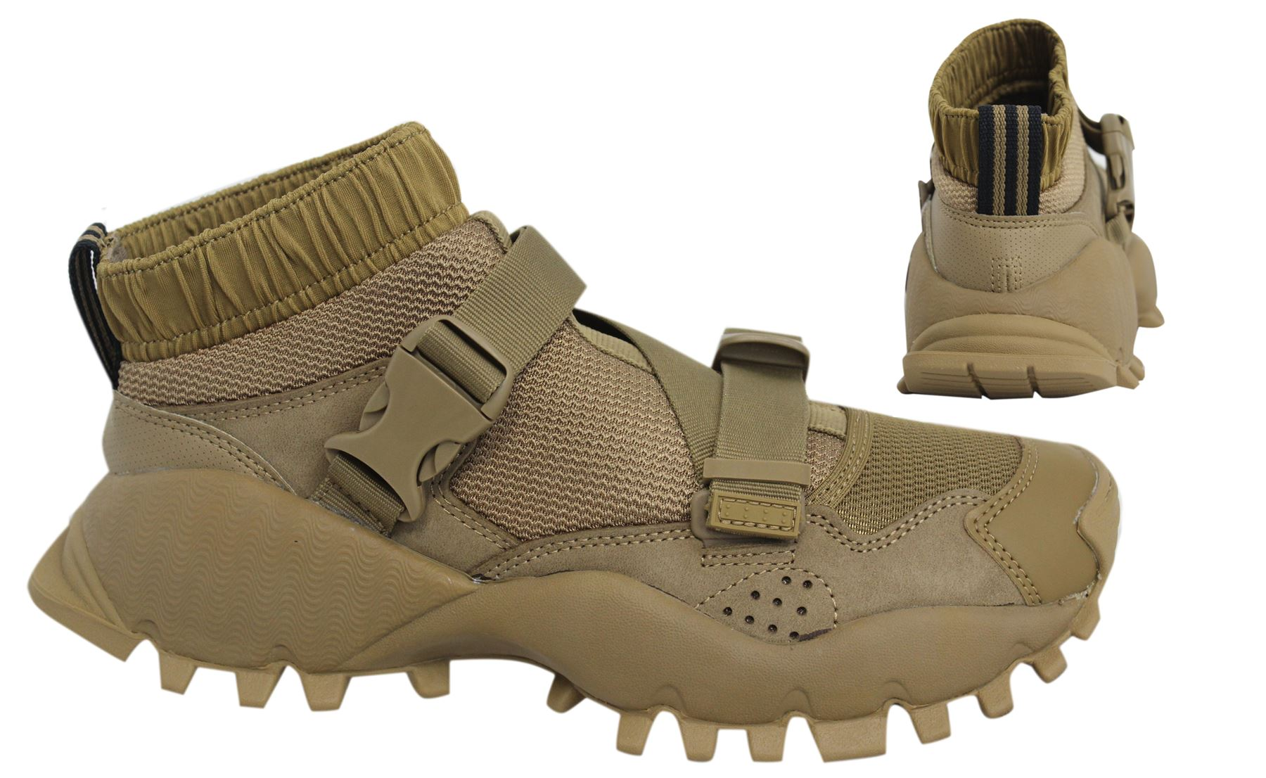 Adidas Originals HYKE AOH-010 Strap Up Khaki Mens Trainers BA8359 ...