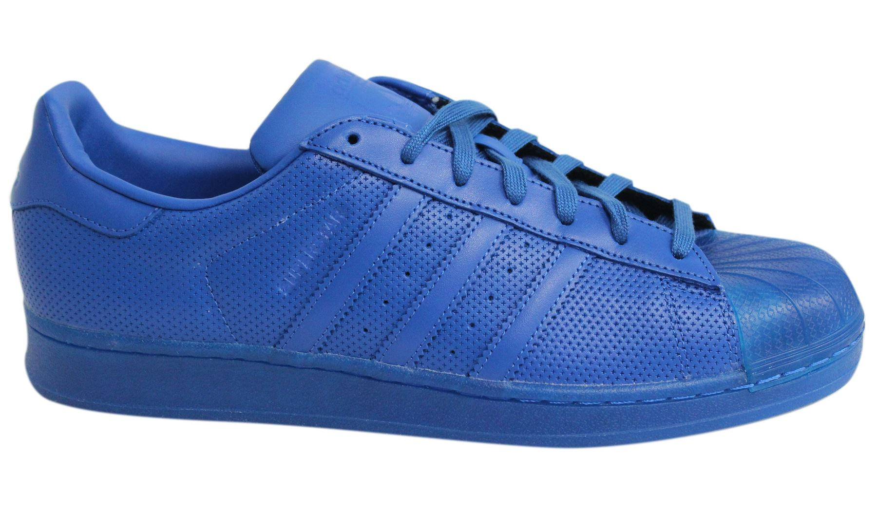 b69bd657a355 Adidas Superstar Adicolour Lace Up Blue Leather Mens Trainers S80327 ...