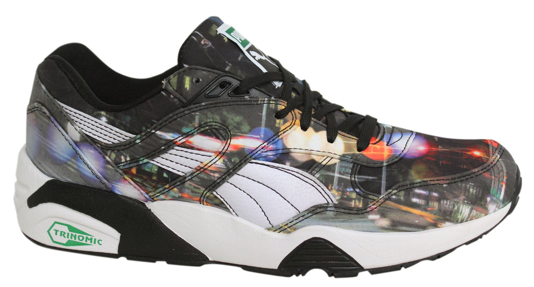 Puma R698 New York City Photoreal Lace Up Mens Trainers 359932 01 ... 15744c174
