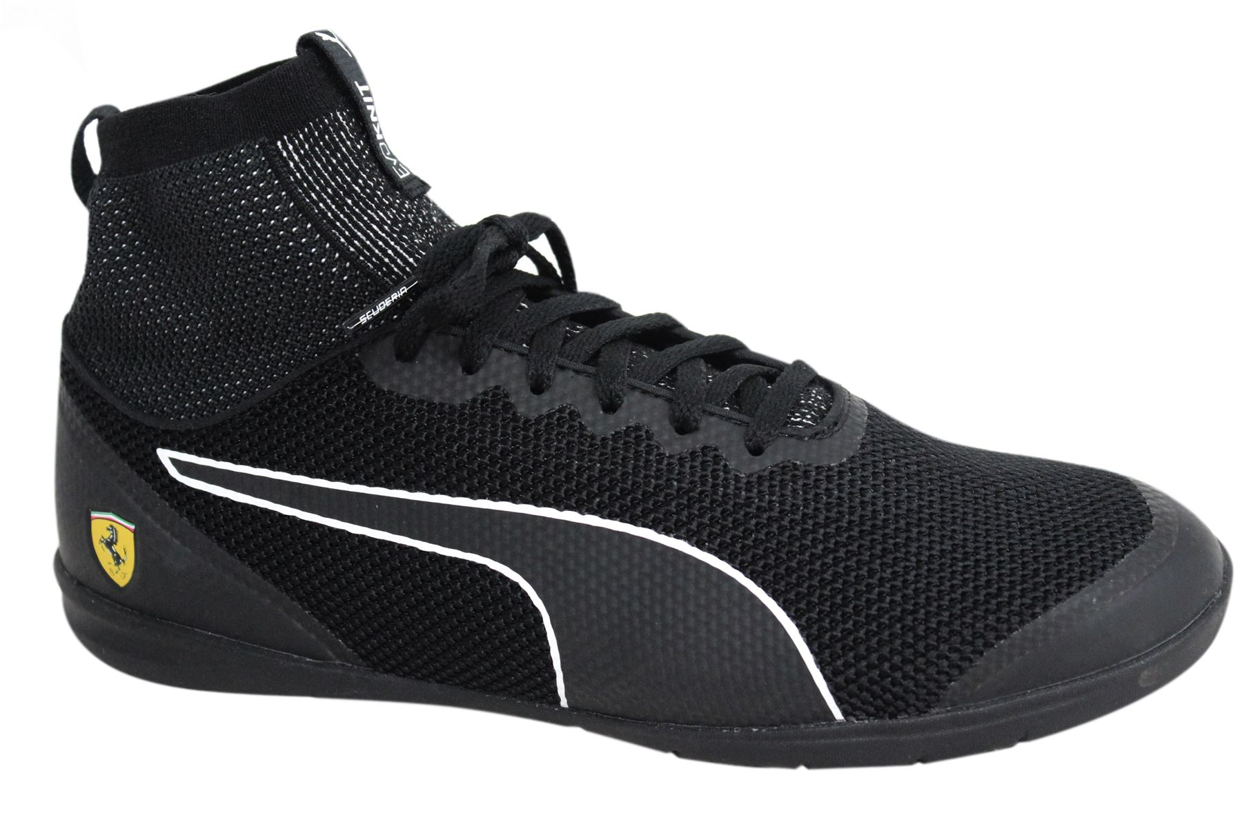 reputable site 2a25d 5fbdc Details about Puma SF Ferrari Changer Ignite evoKNIT Lace Up Black Mens  Trainers 305919 02 M12