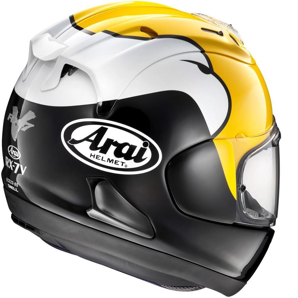 Arai-RX-7V-Kenny-Roberts-Replique-Casque-De-Moto miniature 12