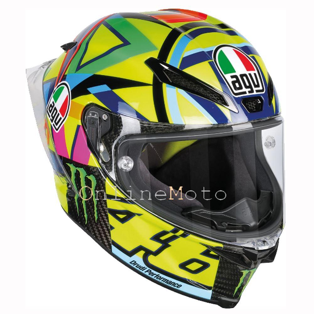 AGV-Pista-Gp-R-Soleluna-Rossi-46-2016-Motocicleta-Casco
