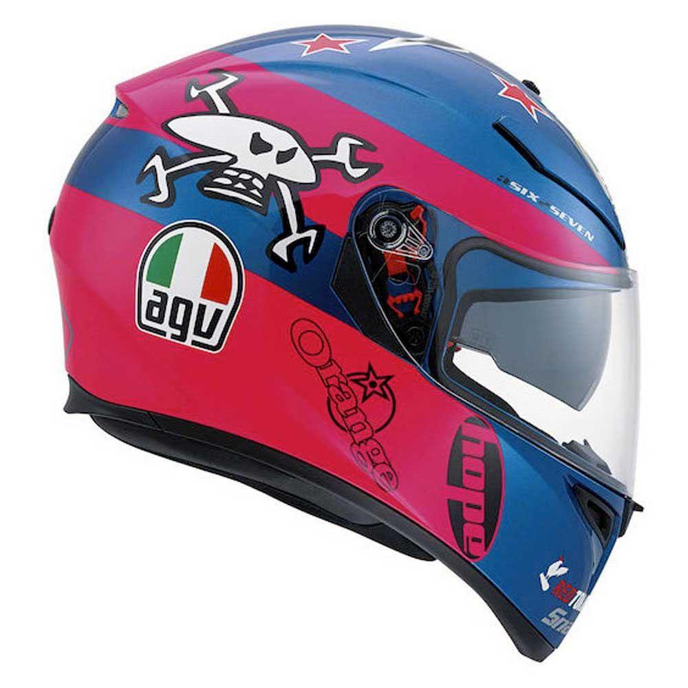 6a6a2b4b4c3df AGV K3 SV Guy Martin Pink Blu Casco Moto Integrale