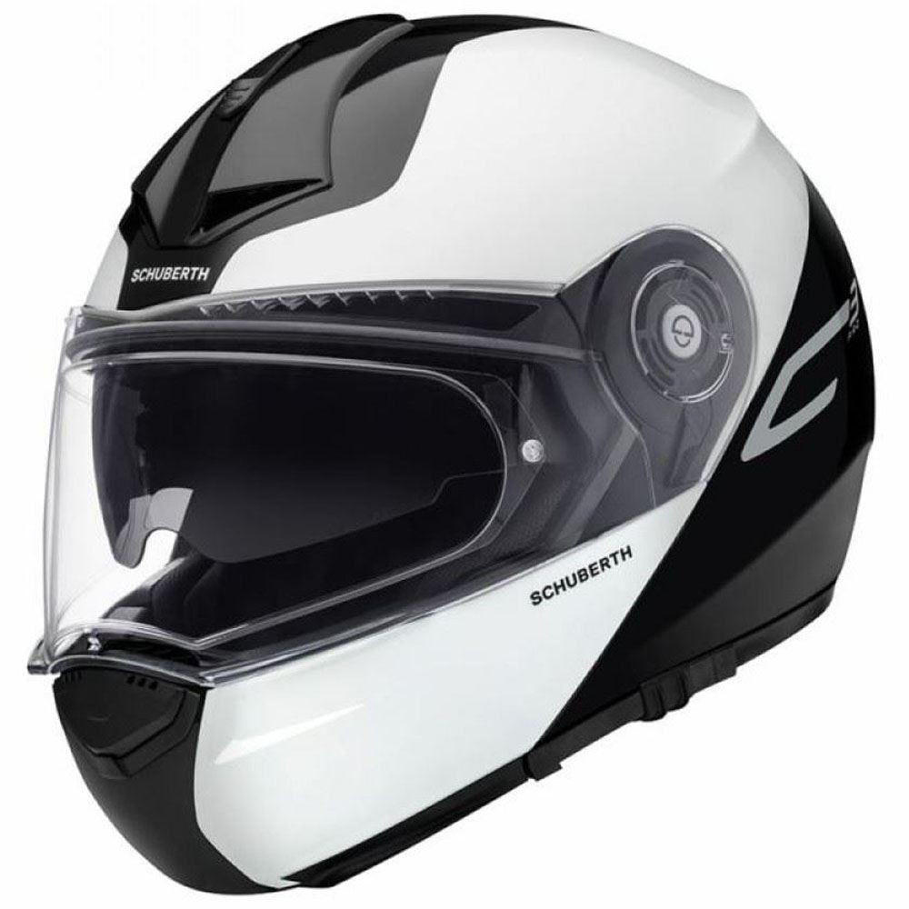 5169fa00888aa Schuberth C3 Pro Split White Flip Front Motorcycle Helmet