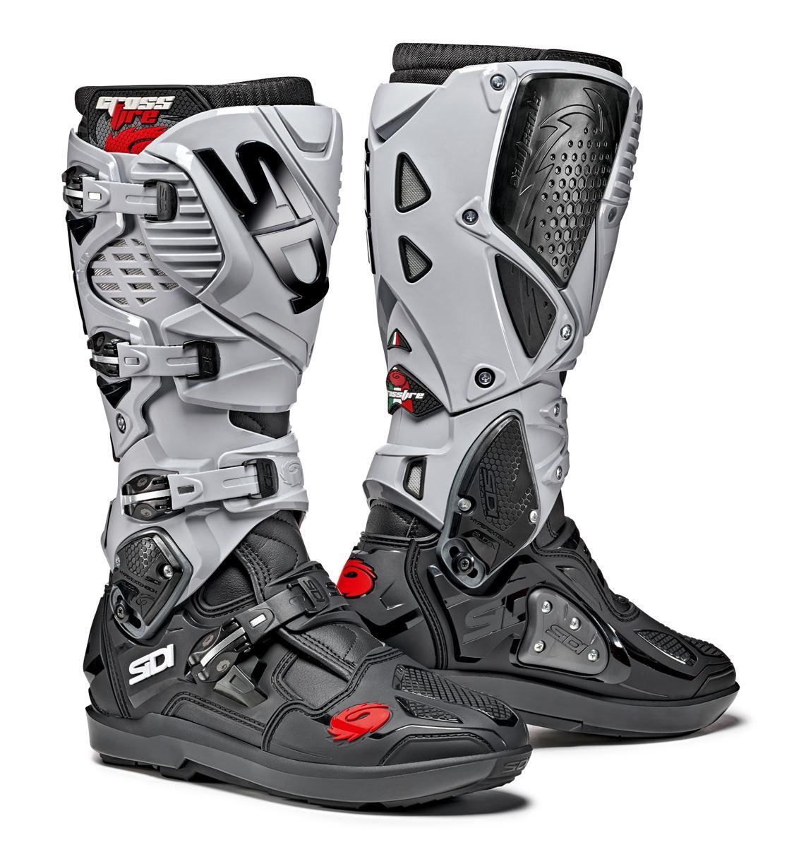 Dettagli su Sidi Crossfire 2 SRS CE Nero Grigio Moto Cross Enduro Stivali