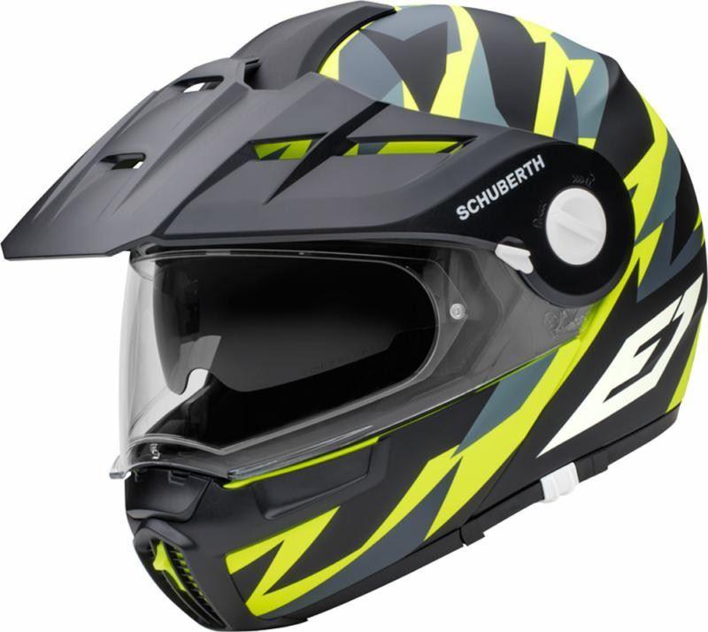 8aca83cd Schuberth E1 Rival Yellow Adventure Flip Up Motorcycle Helmet | eBay