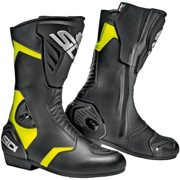 Sidi-Black-Rain-Black-Yellow-Motorcycle-Boots