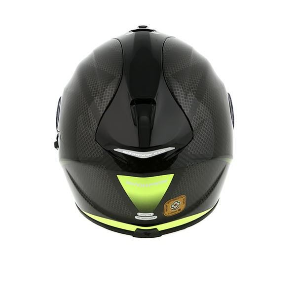 scorpion exo 1400 carbon pure yellow motorcycle helmet ebay. Black Bedroom Furniture Sets. Home Design Ideas