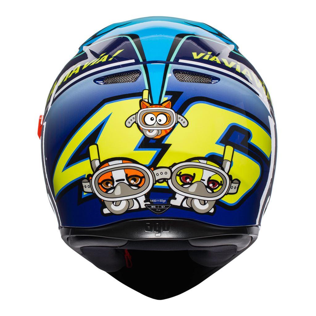 AGV-K3-SV-Misano-2015-Bleu-Casque-De-Moto-Integral miniature 11