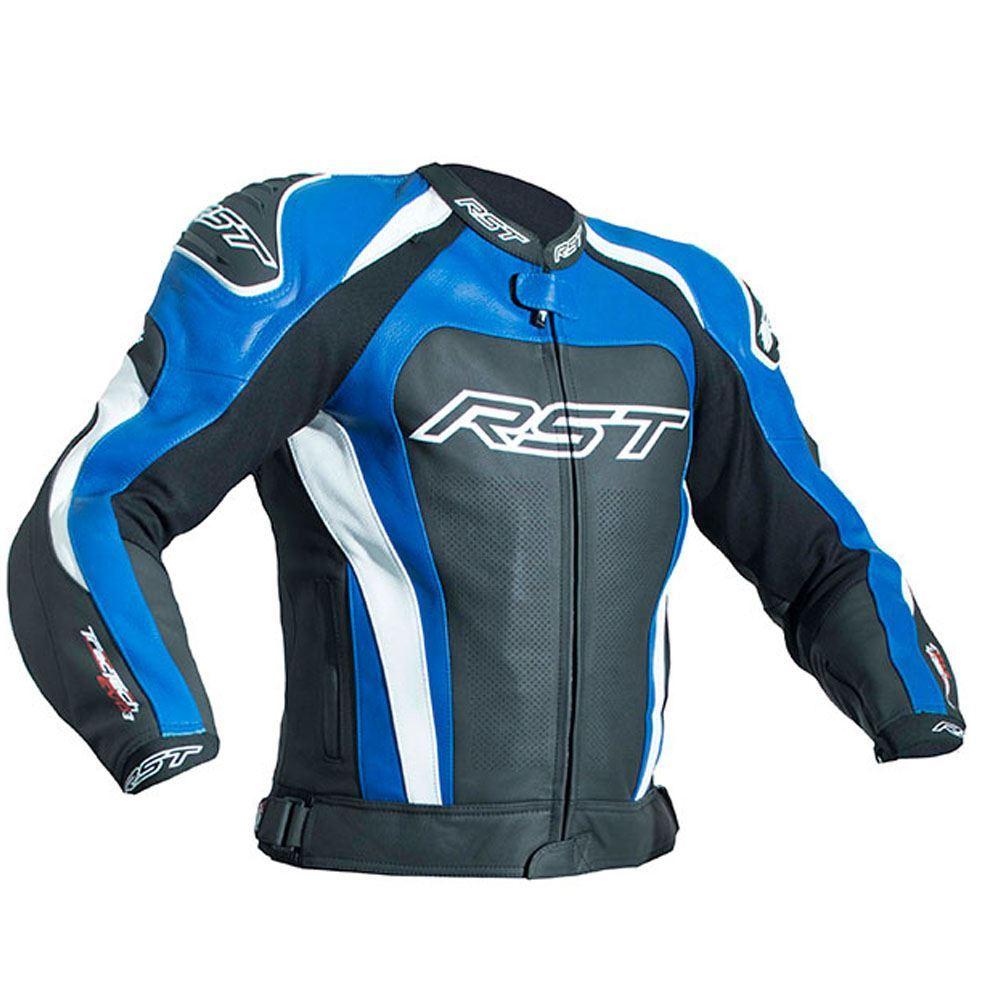 RST-2051-Tractech-Evo-III-Ce-Moto-Cuir-Veste-Bleu miniature 4