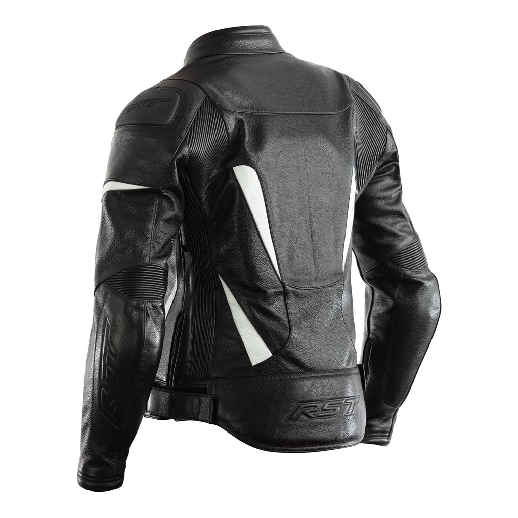 Men's Clothing Jackets Lower Price with Suzuki 4269 White Motorbike Motorcycle Cowhide Leather Jacket And Leather Gloves