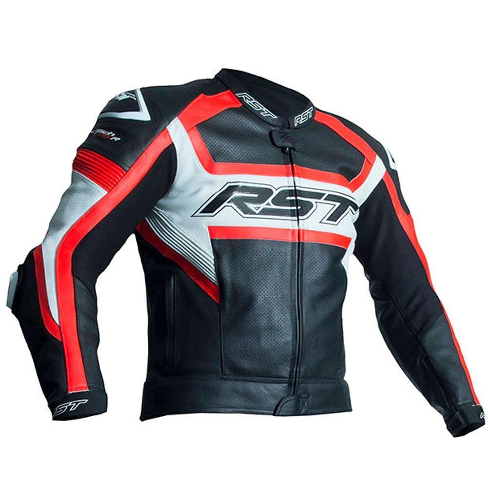 descripcion. Chaqueta de cuero de motocicleta Tractach Evo R Ce de RST 2049 0a7df21b3e551