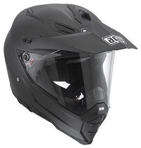 Casque-de-moto-noir-double-Evo-Matt-AGV-Ax8