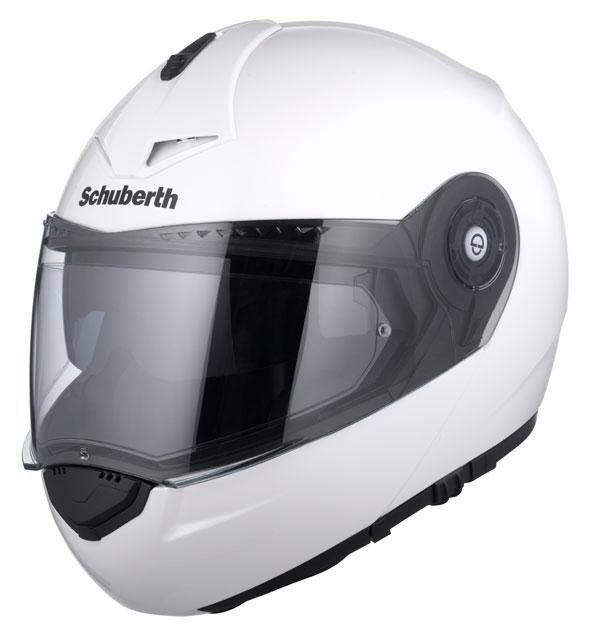 Schuberth-C3-Pro-Brillo-Blanco-Motocicleta-Casco