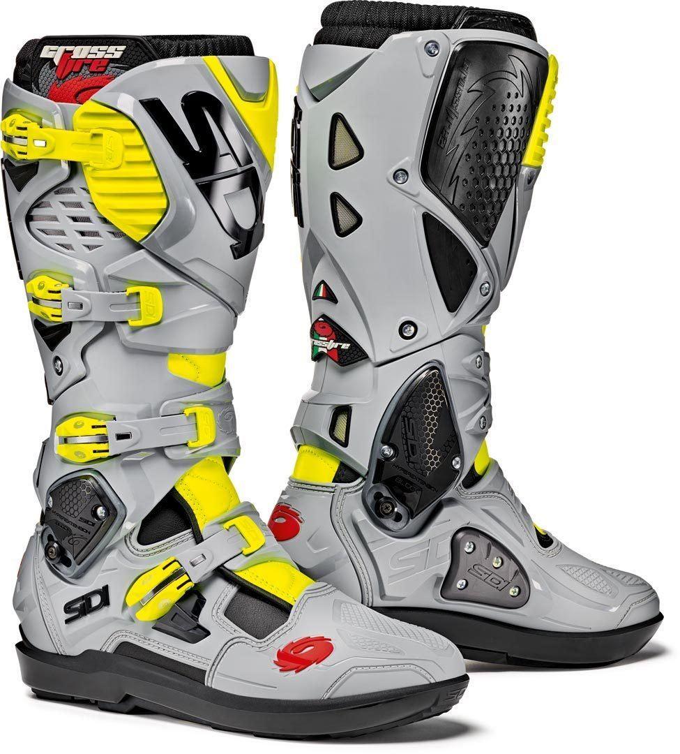 Sidi-Crossfire-3-Srs-Nero-Cenere-Giallo-Flo-Moto-X-Stivali