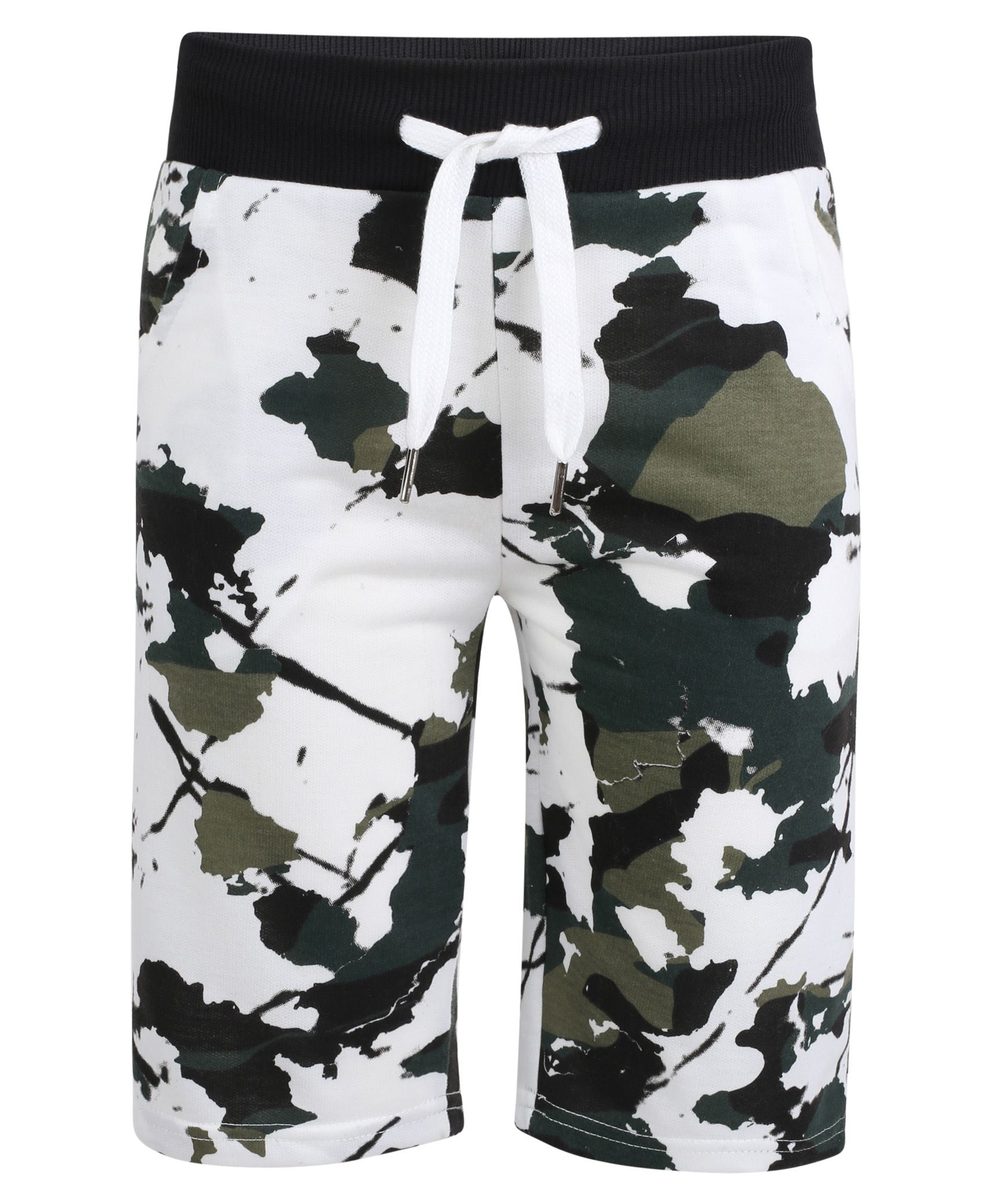 c66f0e8ea65 Lotmart Boys Jersey Shorts Camouflage Print Pattern in White 5-6 Years