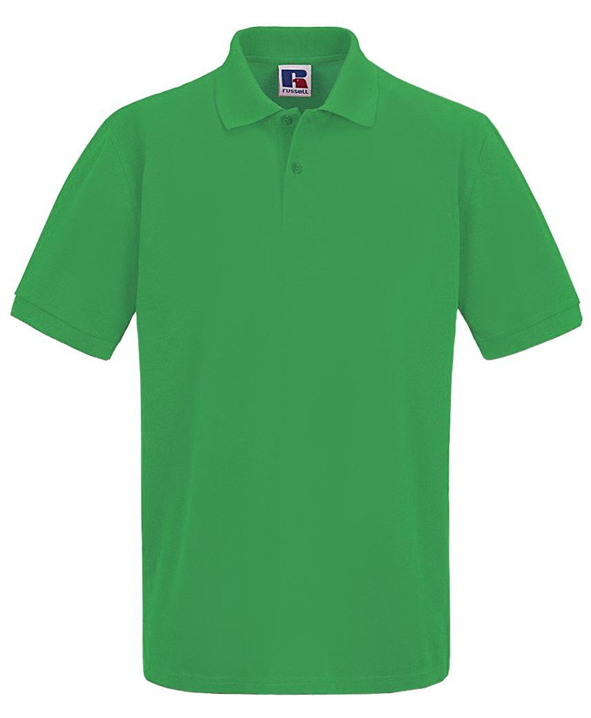 Para-hombre-Plain-Pique-Polo-Camiseta-Verano-100-Algodon-Top-de-manga-corta miniatura 13
