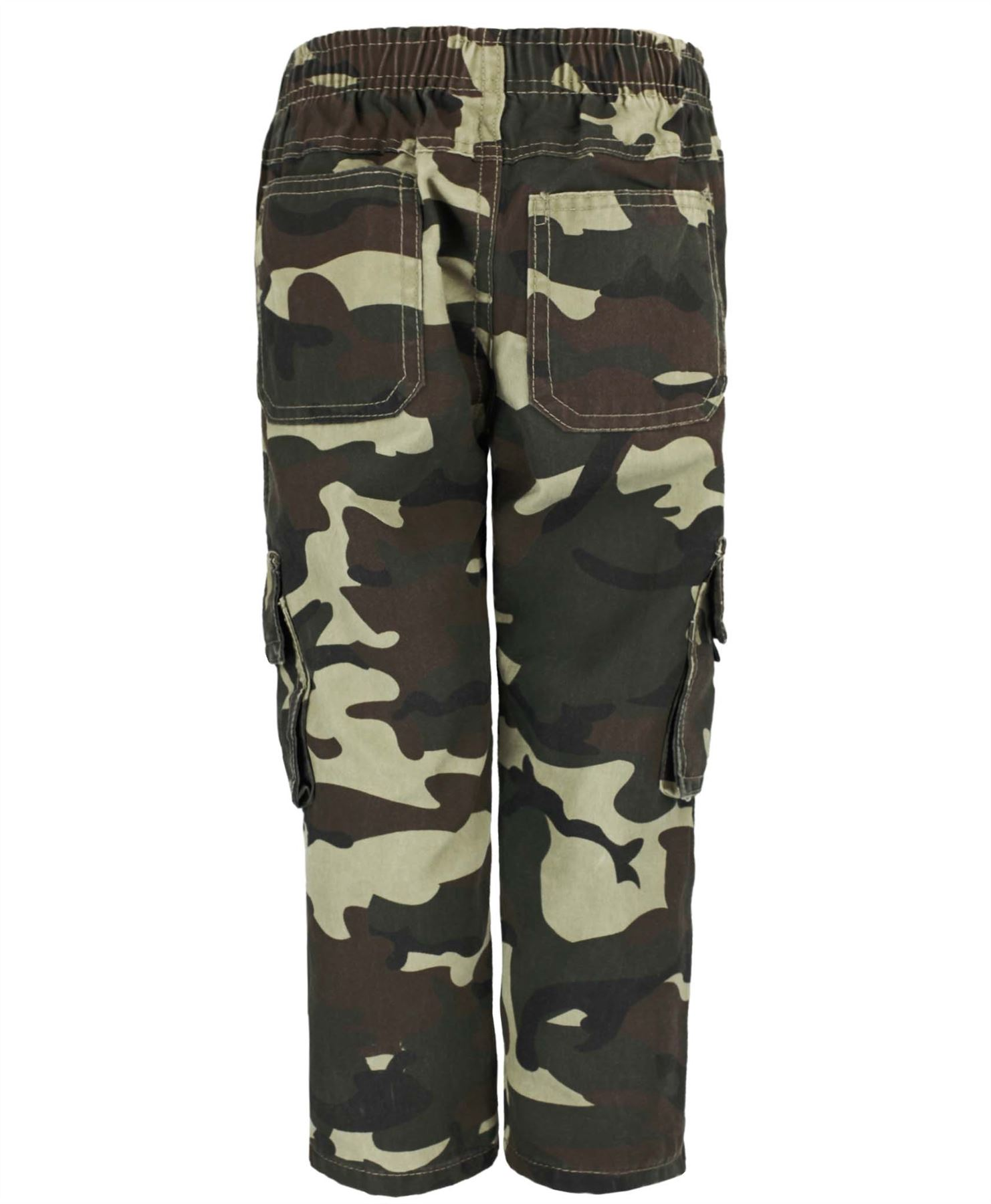Kids-multipocket-camouflage-pantalon-garcons-armee-imprimer-cargo-combat-pantalon-4-14-ans miniature 7