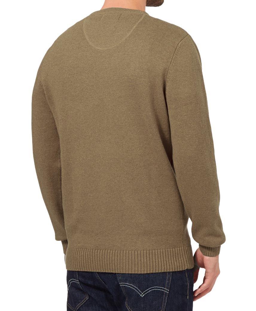 Da Uomo ex Maine New England Plain collo a V Maglione Long Sleeve Knit Sweater