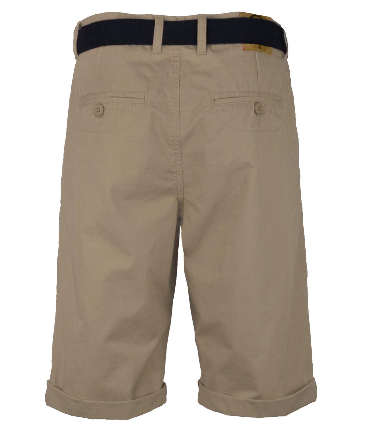 uomo-lunghezza-al-Ginocchio-Pantaloni-Chino-Casual-DI-COTONE-ESTATE-MISURA