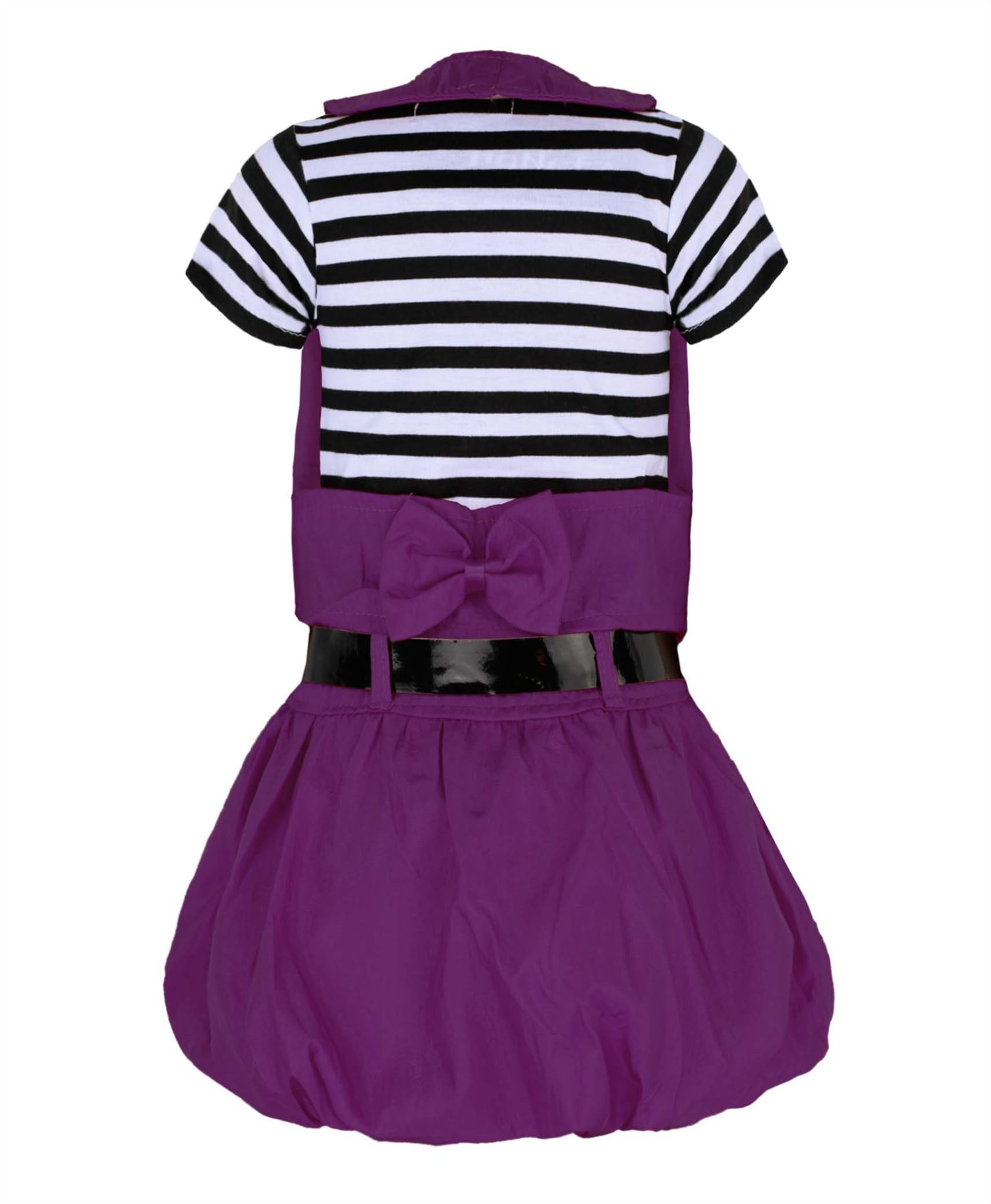 ragazze-con-cintura-abito-a-maniche-corte-strass-Bambino-Design-amp-Gilet-Set-3-12
