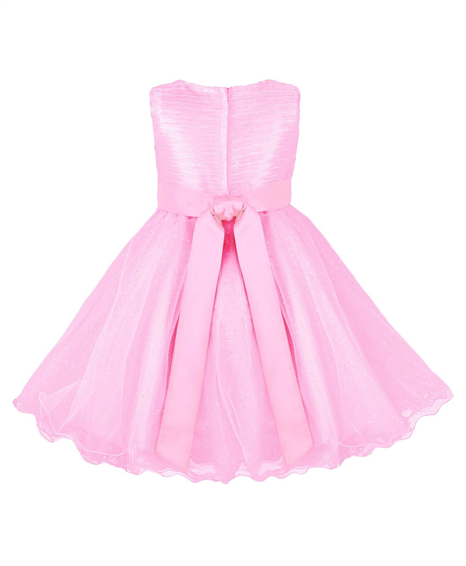 GIRLS TULLE PARTY DRESS BOW DETAIL FLOWER GIRL WEDDING PAGEANT ...