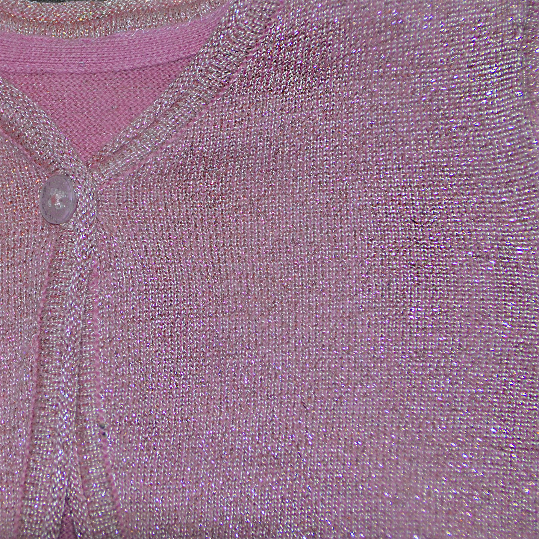 Girls-Knitted-Shrug-Kids-Long-Sleeve-Bolero-Top-Lurex-Glitter-Effect-Cardigan thumbnail 7